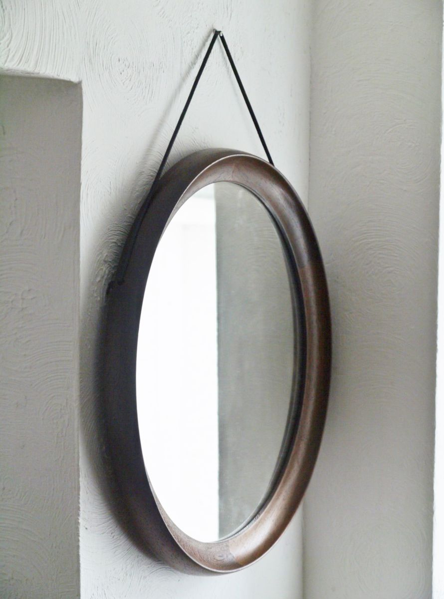Vintage wenge framed mirror 1960s for sale at pamono for Miroir wenge ikea