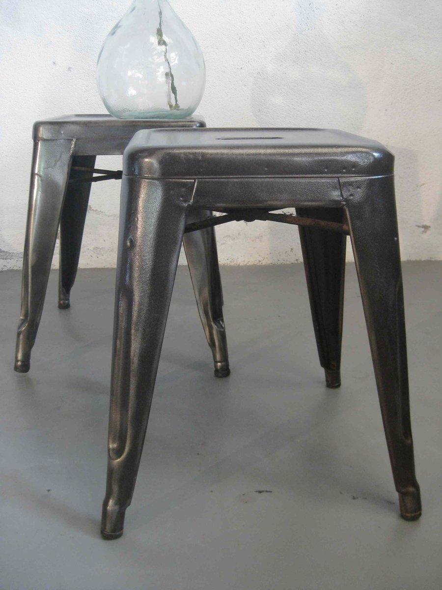 industrie hocker von tolix 1960er 2er set bei pamono kaufen. Black Bedroom Furniture Sets. Home Design Ideas