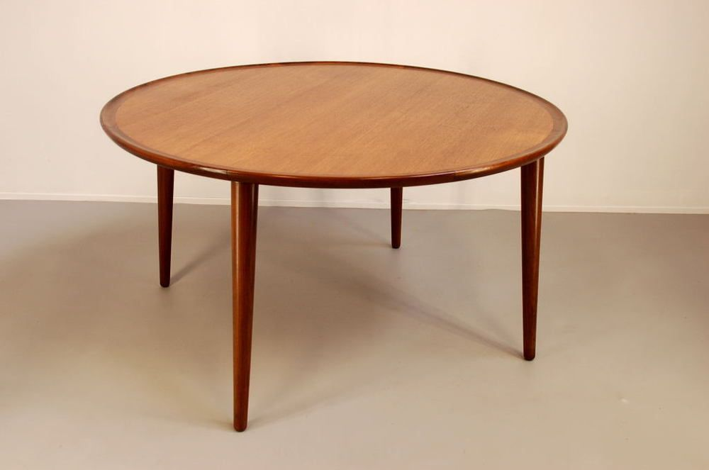 Round Teak Coffee Table For Sale At Pamono