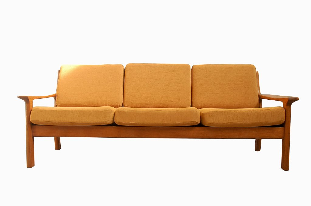 Mid Century Teak Three Seater Sofa By Glostrup 1960s For Sale At Pamono