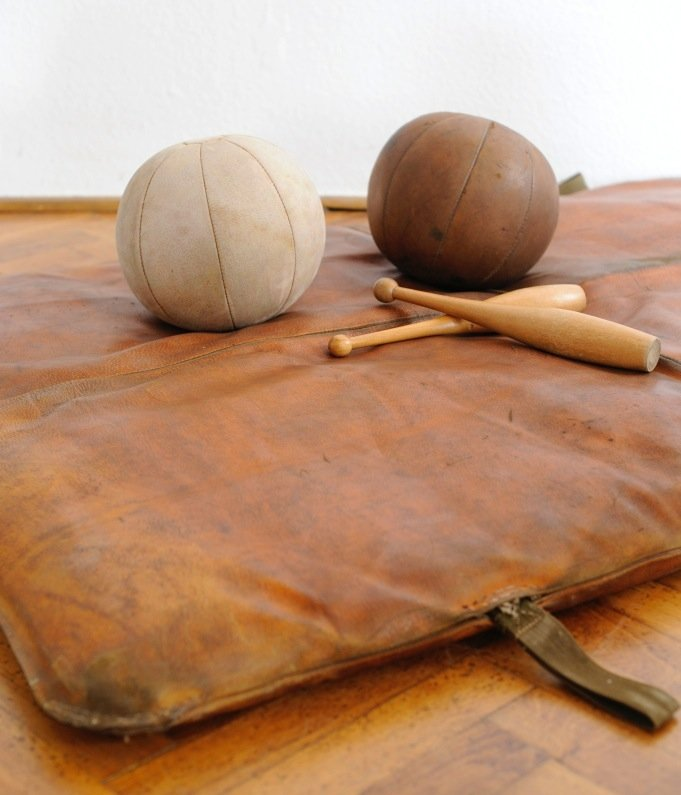 Vintage Leather Gym Mat For Sale At Pamono