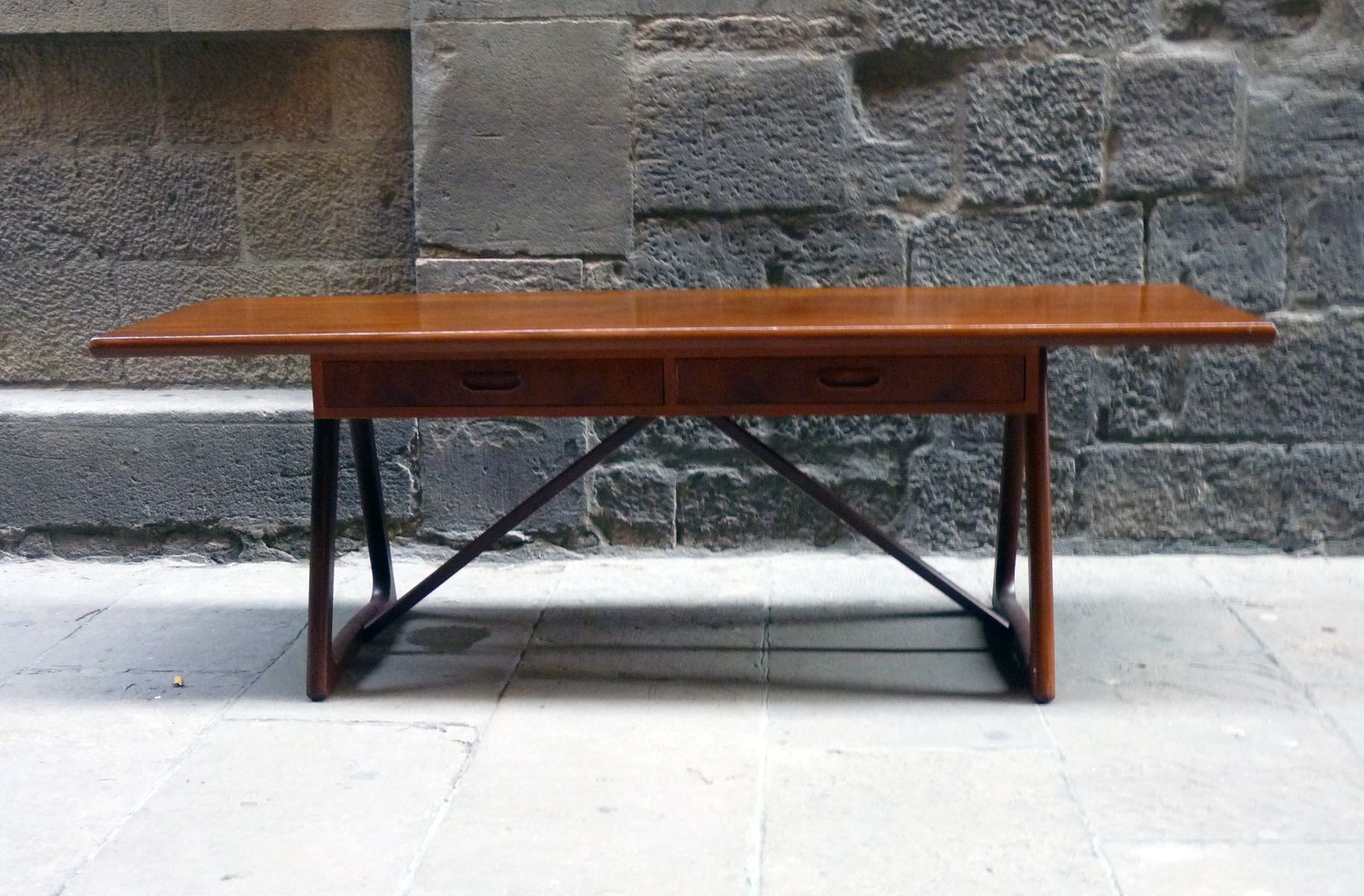 Mid Century Large Danish Teak Coffee Table 1960s For Sale At Pamono