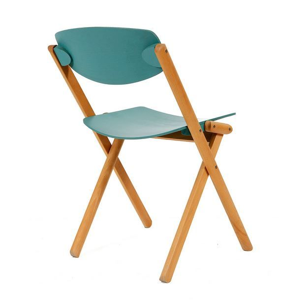 Vintage Wood Folding Chairs 1980 Set of 4 for sale at Pamono