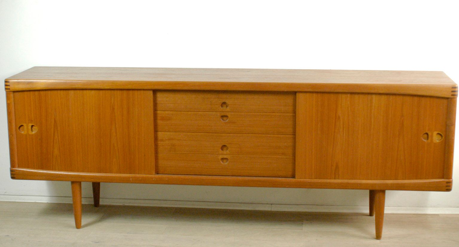 Danish teak sideboard by h w klein for bramin 1960s for for Sideboard 240 cm