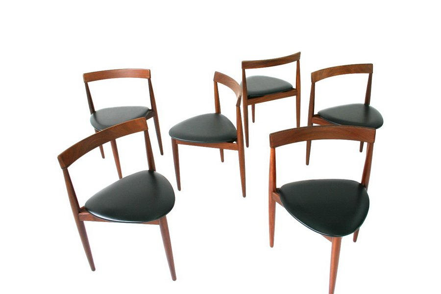 Mid Century Danish Teak Dining Chairs By Hans Olsen For