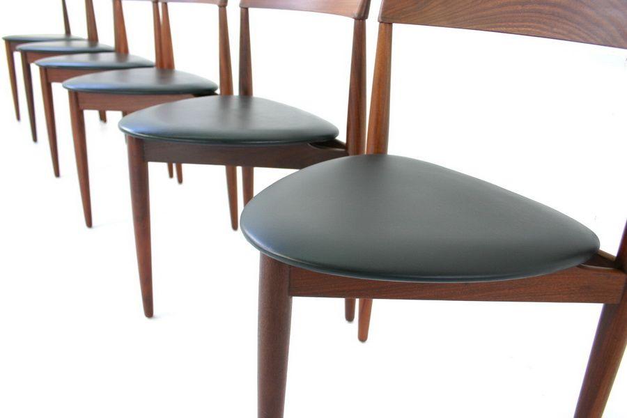 Mid Century Danish Teak Dining Chairs By Hans Olsen For Frem Røjle, Set Of 6