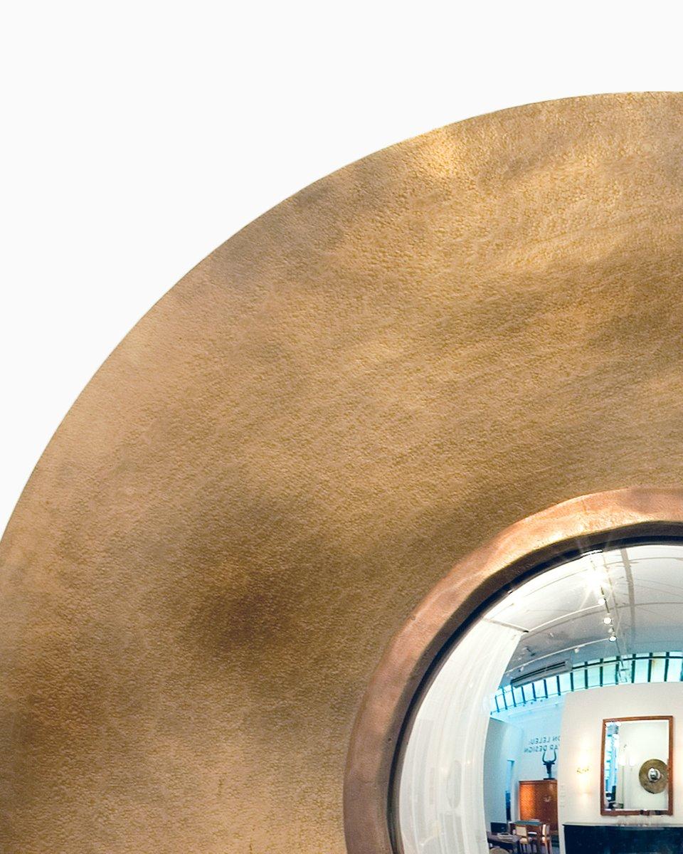 Round bronze mirror by herv van der straeten for sale at - Miroir design belgique ...