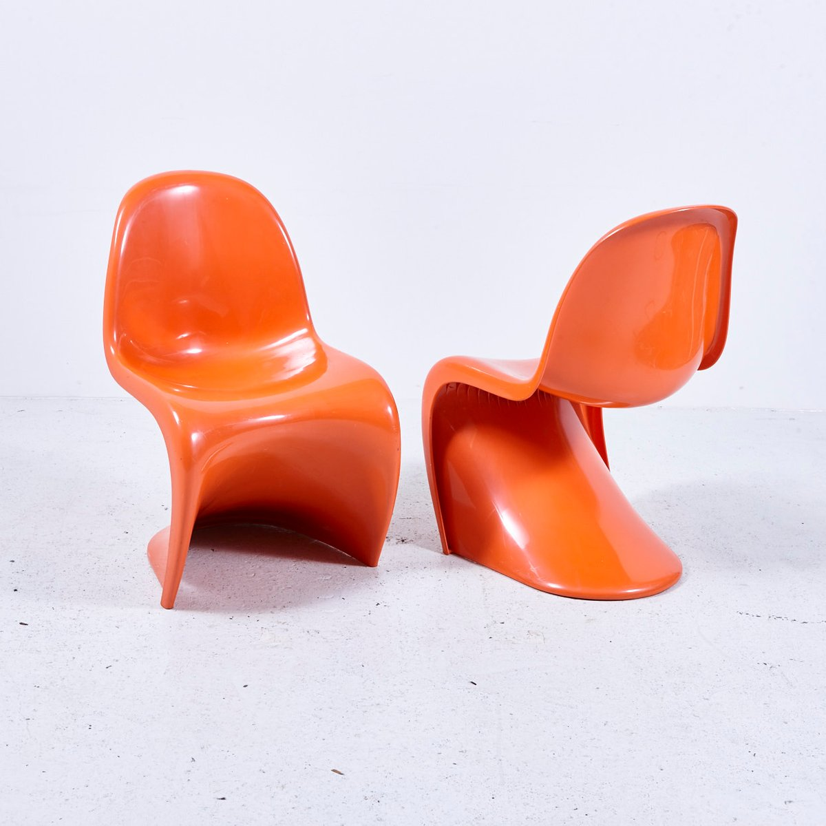Orange Panton Chair By Verner Panton For Hermann Miller, 1970s