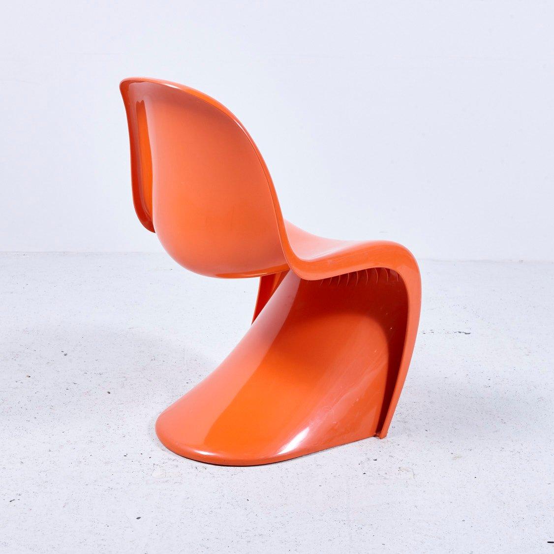 orangefarbener panton stuhl von hermann miller 1970er bei pamono kaufen. Black Bedroom Furniture Sets. Home Design Ideas