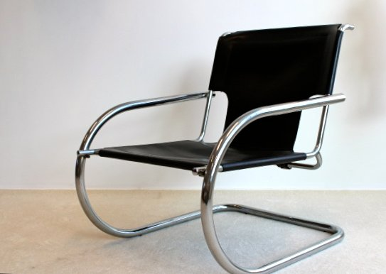 vintage chrome leather easy chair from arrben italy for