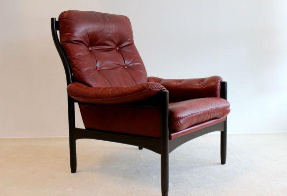 skandinavischer ledersessel von g te m bel bei pamono kaufen. Black Bedroom Furniture Sets. Home Design Ideas