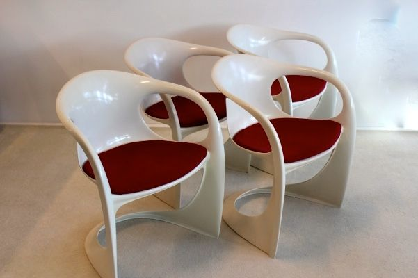 wei e casalino st hle von alexander begge f r casala 4er. Black Bedroom Furniture Sets. Home Design Ideas
