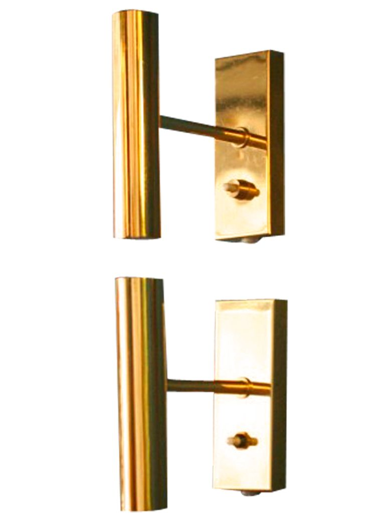 Vintage Brass Wall Lamps : Vintage Brass Wall Lamps from Fog & M?rup, Set of 2 for sale at Pamono