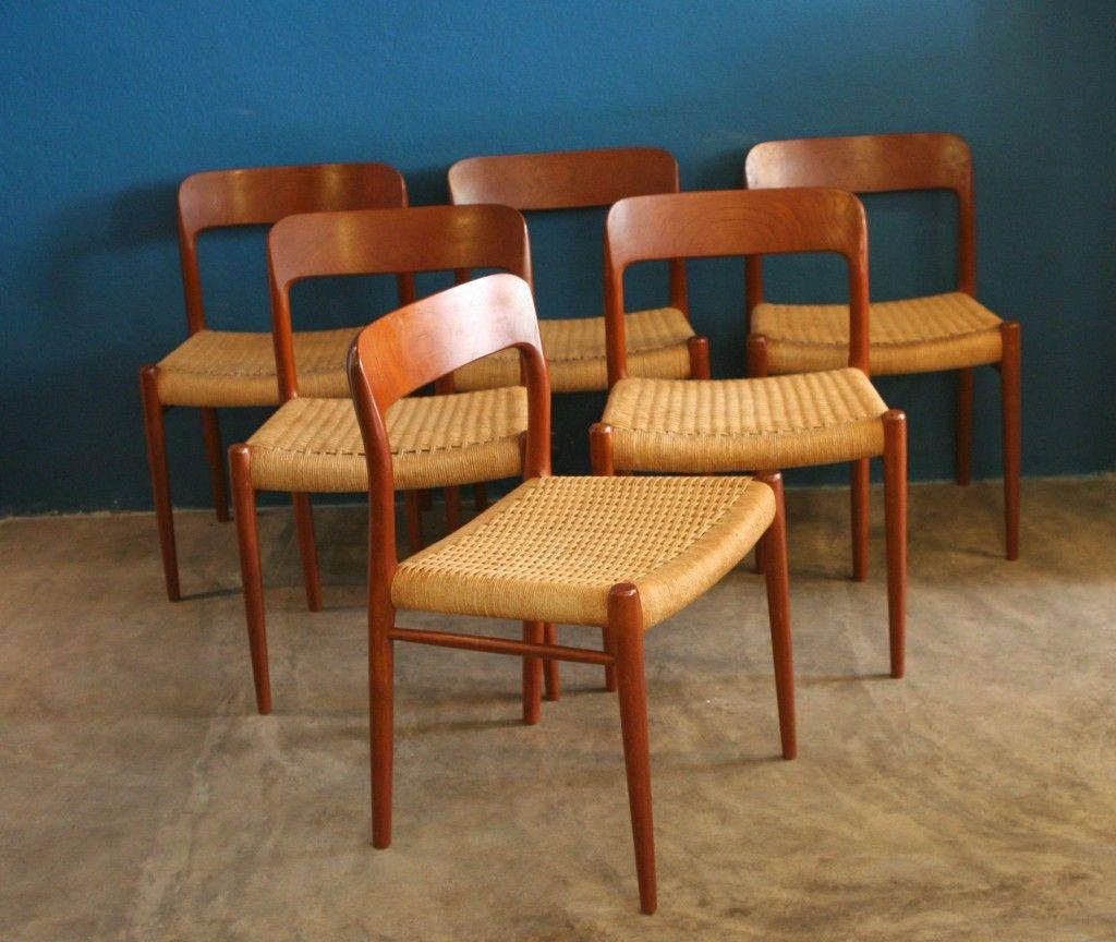 esszimmerst hle von niels o m ller f r j l m ller 6er. Black Bedroom Furniture Sets. Home Design Ideas