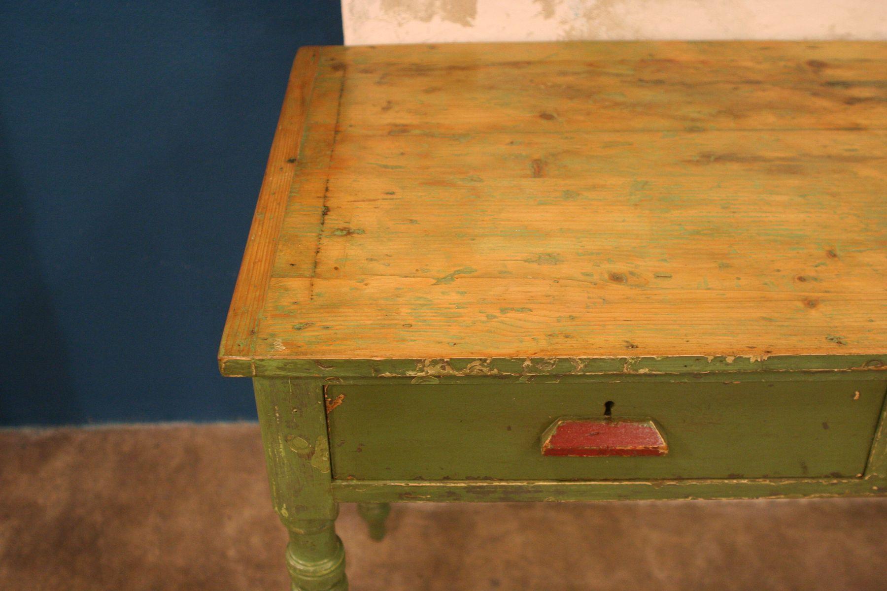 industrie tisch mit gedrechselten beinen 1950er bei pamono kaufen. Black Bedroom Furniture Sets. Home Design Ideas