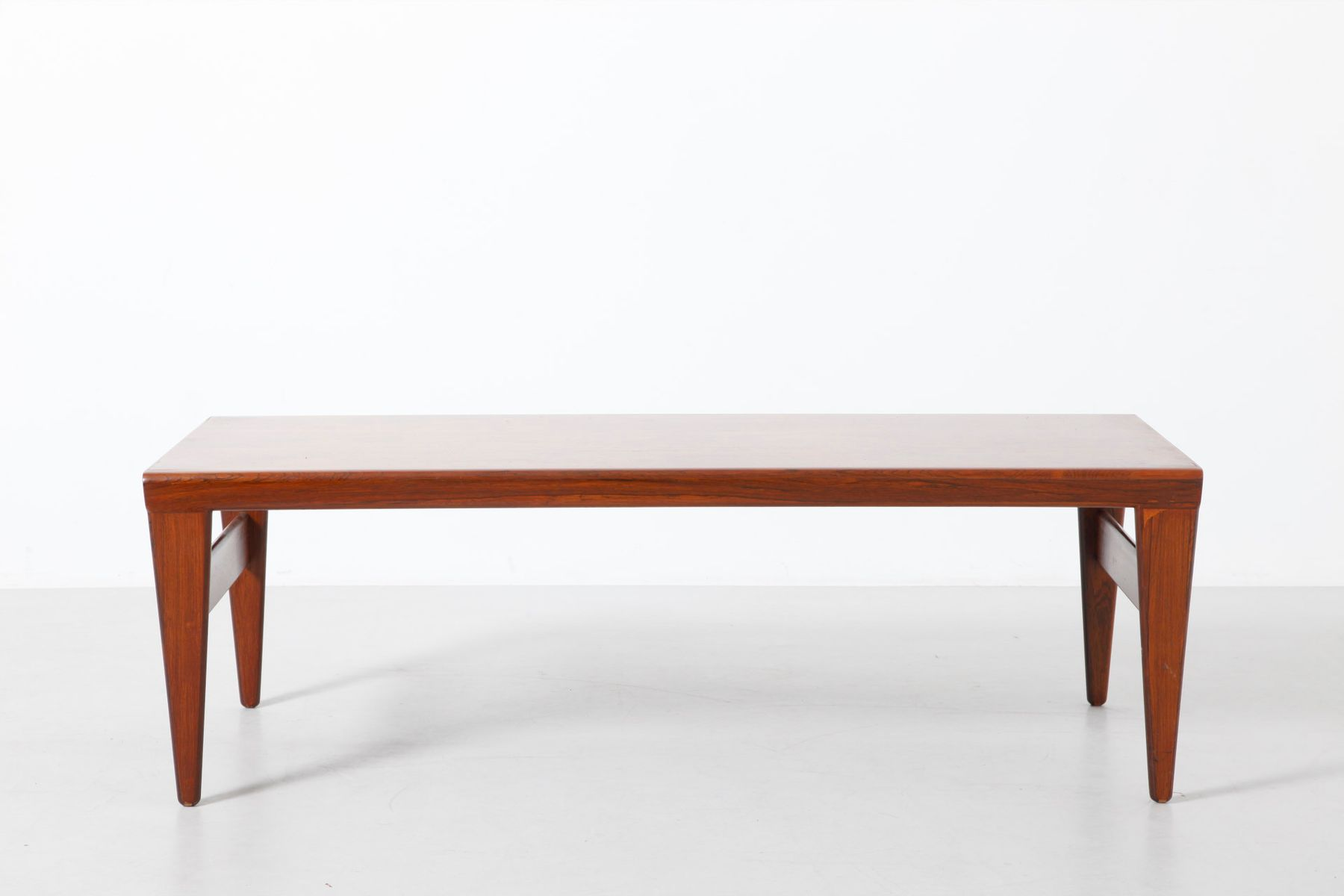 Low Rosewood Coffee Table With Pull Out Trays For Sale At Pamono