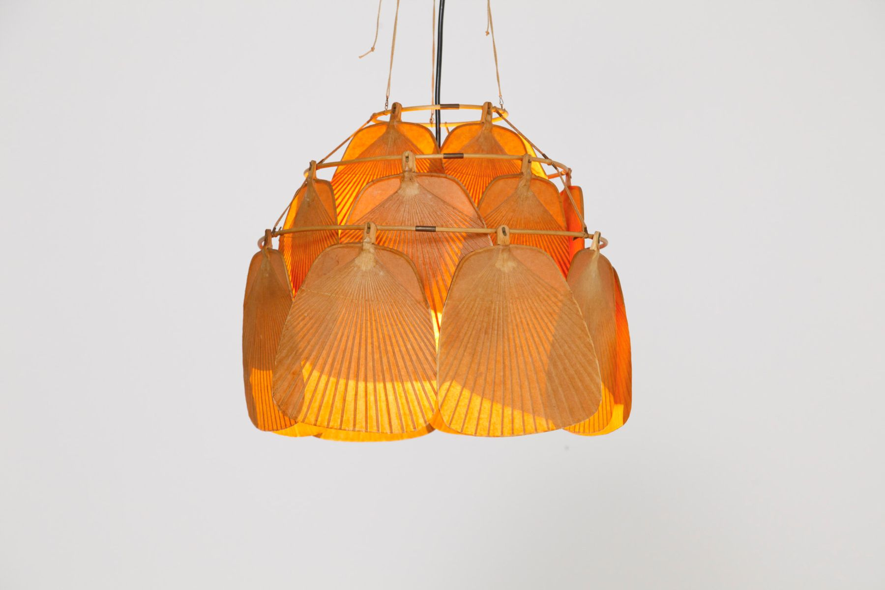 uchiwa fan lamp by ingo maurer 1975 for sale at pamono. Black Bedroom Furniture Sets. Home Design Ideas