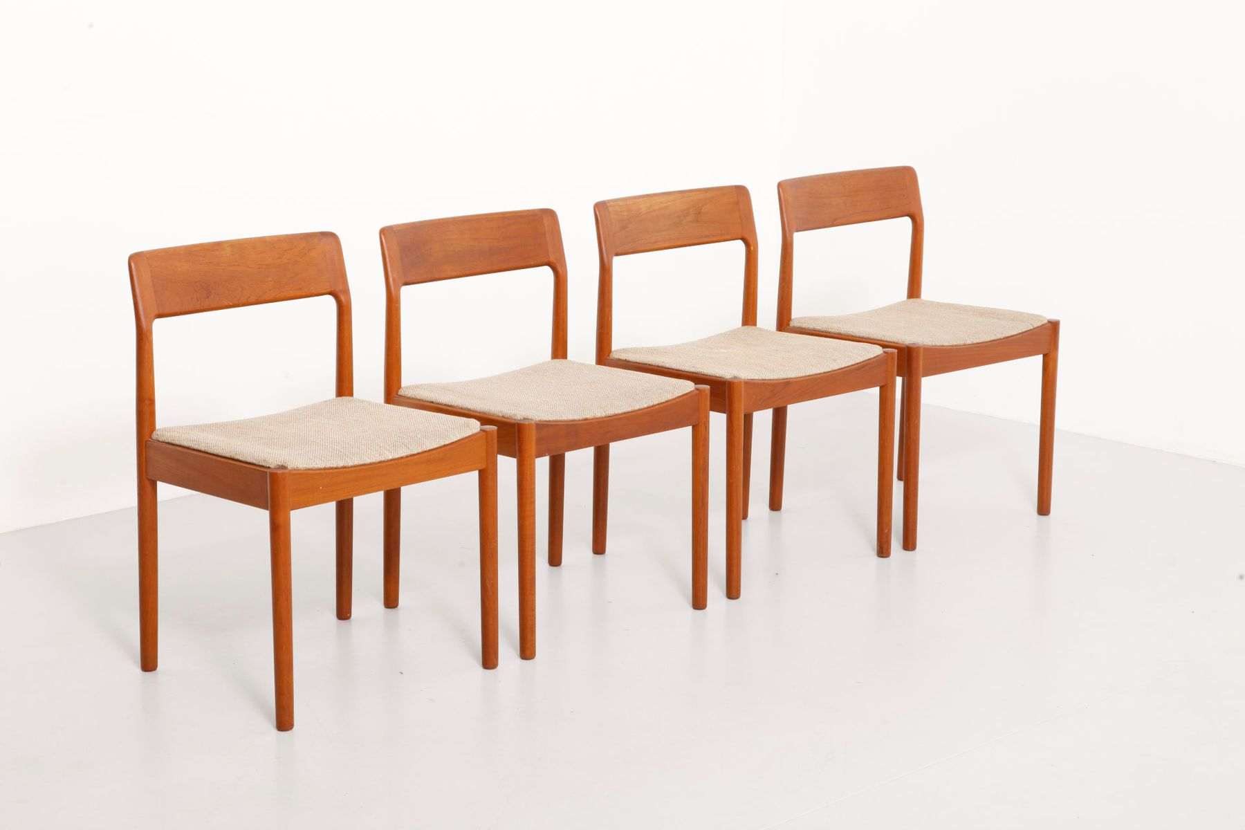 Teak dining chairs from norgaard set of for sale at pamono