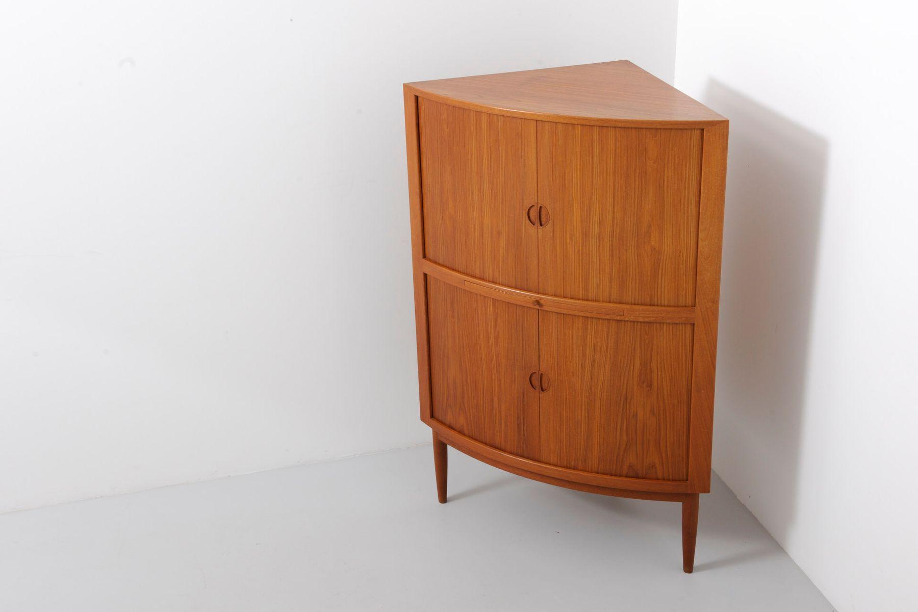 Vintage Corner Cabinet Vintage Teak Corner Cabinet With Tambour Doors For Sale At Pamono