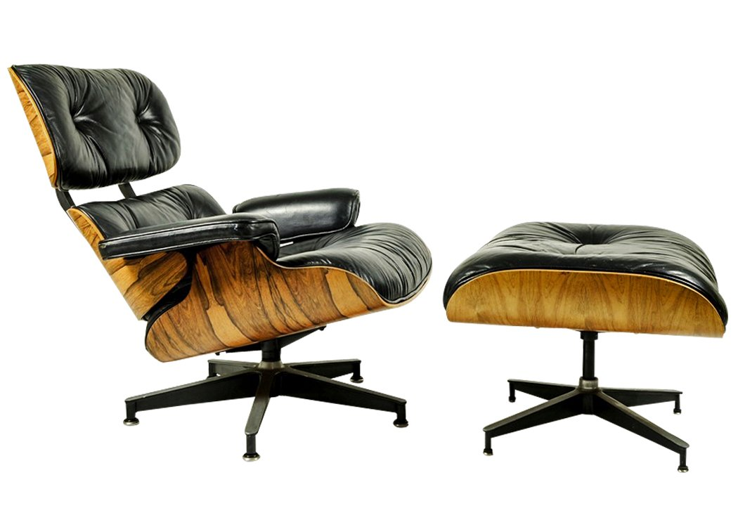 Lounge chair ottoman by ray charles eames for herman for Charles eames lounge chair nachbildung