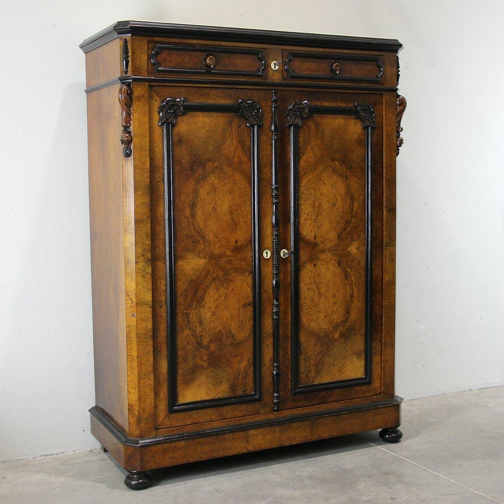 Antike walnuss garderobe 1850 bei pamono kaufen for Garderobe quadro walnuss