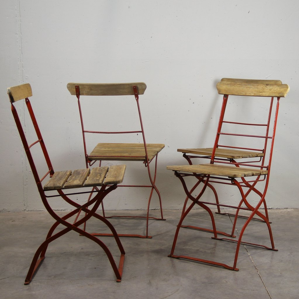 Vintage Outdoor Chairs 1900s Set of 4 for sale at Pamono