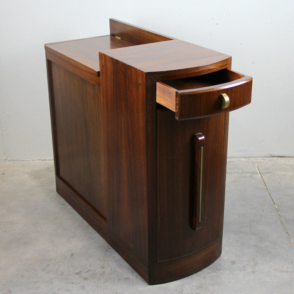 french vintage art deco bar cabinet for sale at pamono. Black Bedroom Furniture Sets. Home Design Ideas