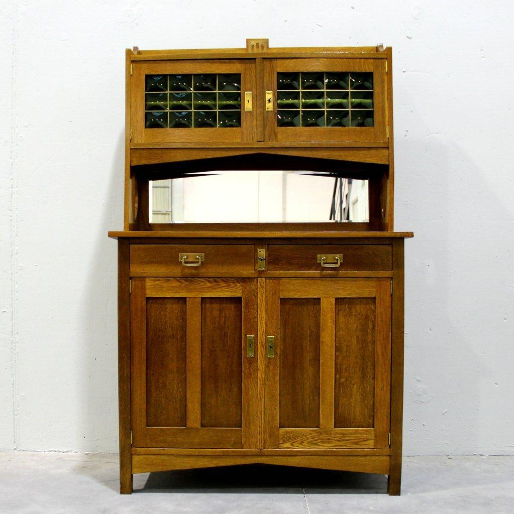 Art Deco Belgian Cupboard & Mirror - Antique Cupboards Online Shop Shop Antique Cupboards At PAMONO