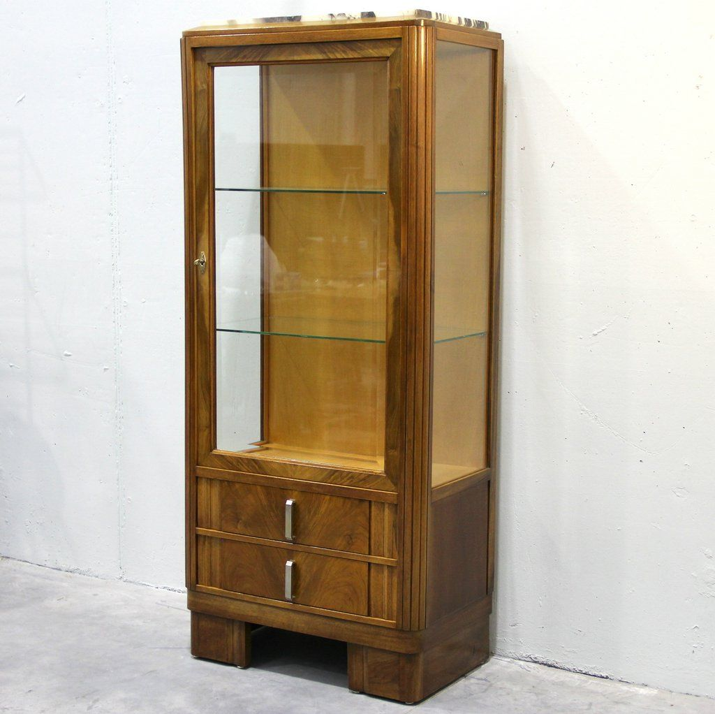 vintage art deco vitrine for sale at pamono. Black Bedroom Furniture Sets. Home Design Ideas