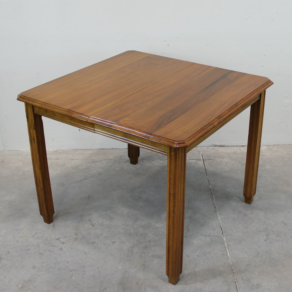 vintage solid walnut extendable dining table for sale at pamono. Black Bedroom Furniture Sets. Home Design Ideas