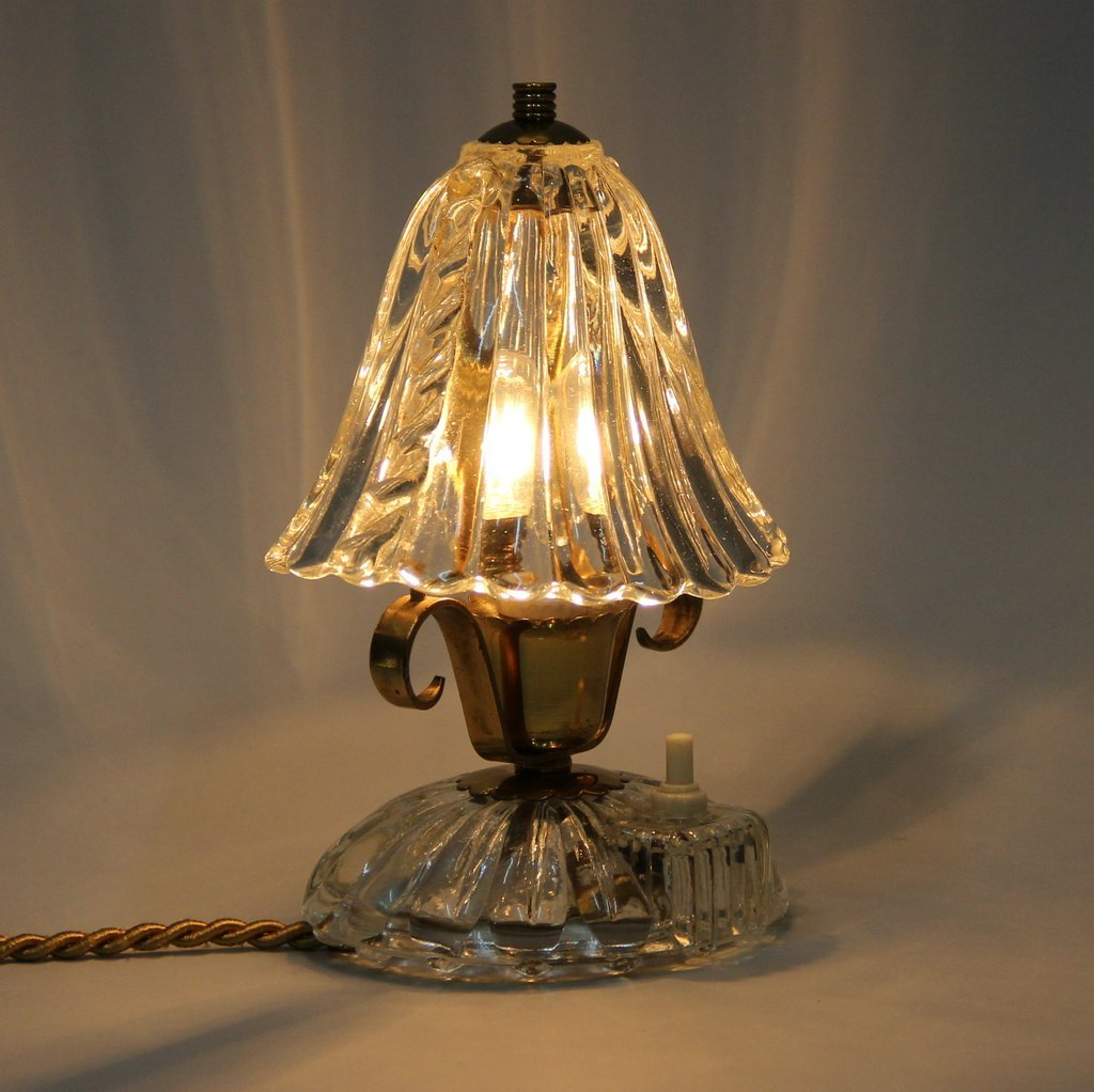 murano glass table lamp from barovier toso 1940s for sale at pamono. Black Bedroom Furniture Sets. Home Design Ideas