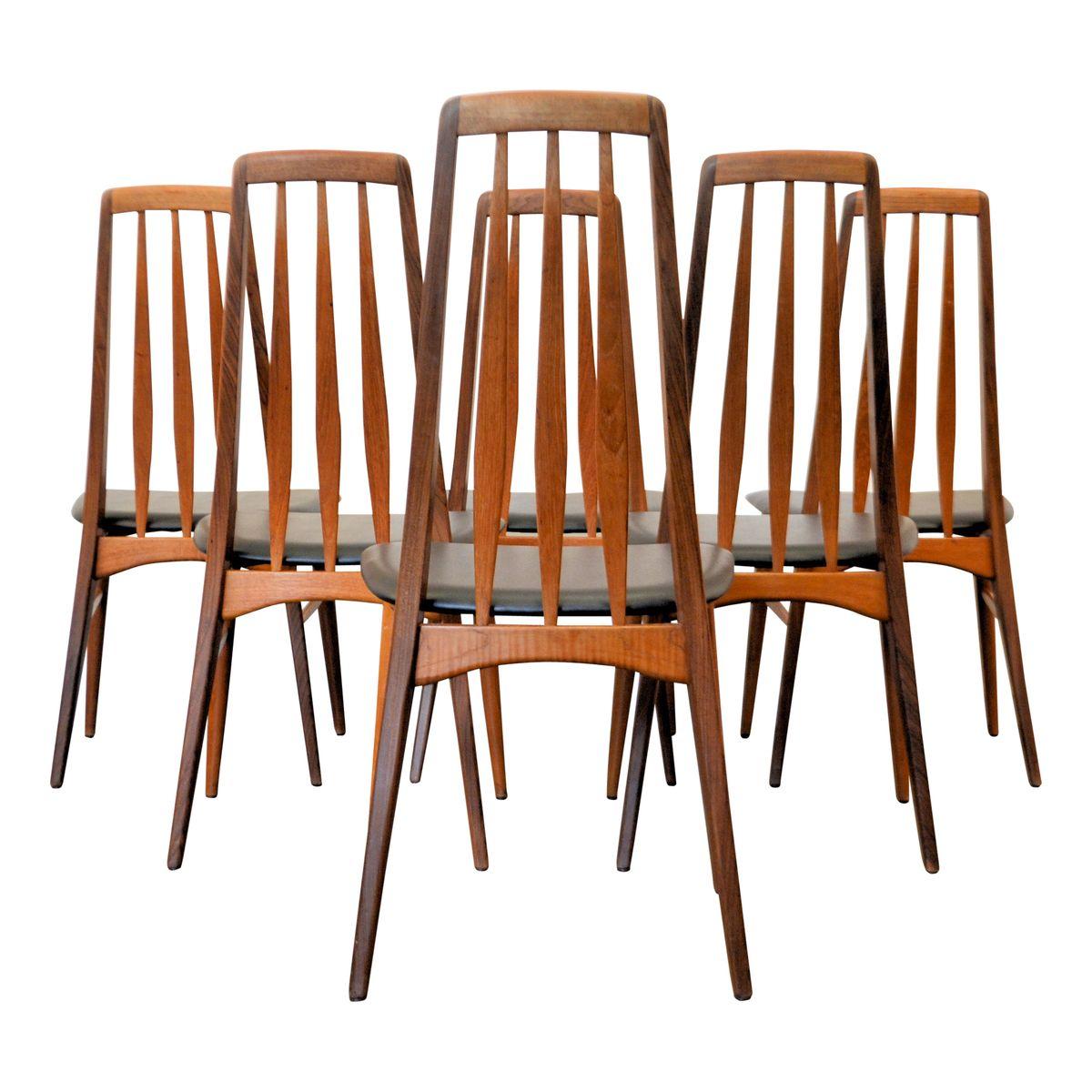 Chaises de salle manger eva par niels koefoed pour for Set de salle a manger