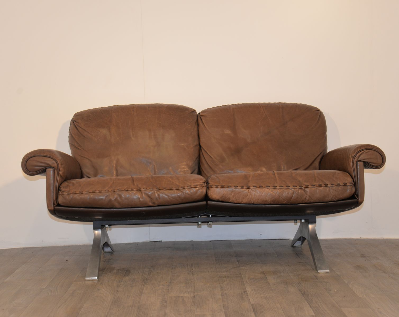 ds 31 vintage 2 seater sofa by de sede for de sede for sale at pamono. Black Bedroom Furniture Sets. Home Design Ideas