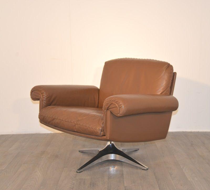 ds 31 vintage leder sessel von de sede bei pamono kaufen. Black Bedroom Furniture Sets. Home Design Ideas