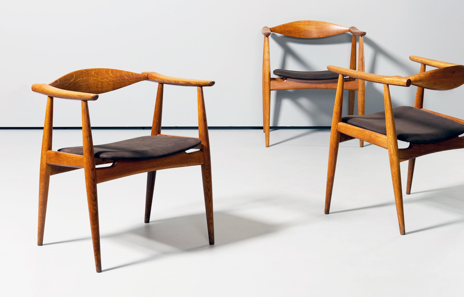 ch35 dining chairs by hans j wegner for carl hansen 1960s set of 6 for sale at pamono. Black Bedroom Furniture Sets. Home Design Ideas