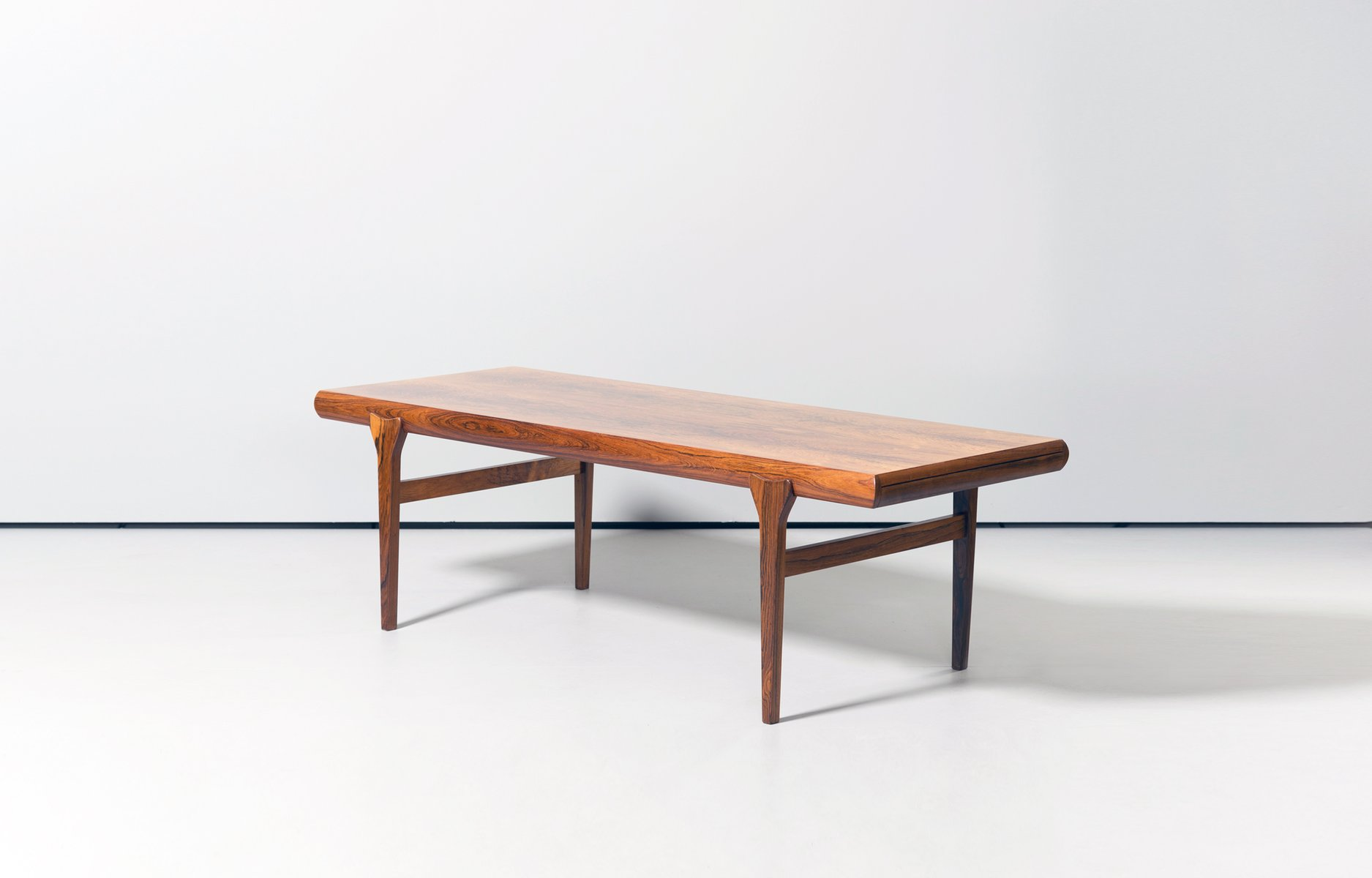 scandinavian rosewood coffee tablejohannes andersen for