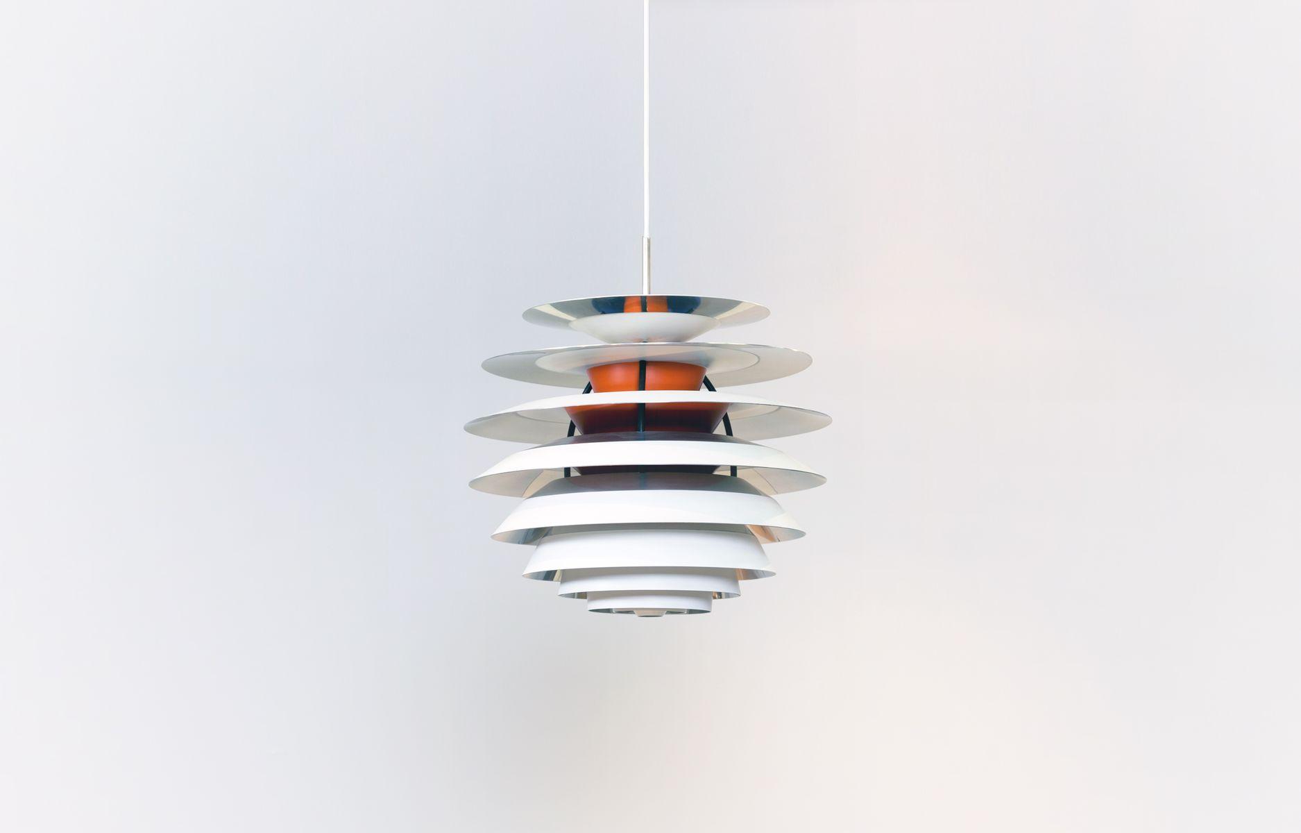 plafonnier scandinave par poul henningsen pour louis poulsen 1960s. Black Bedroom Furniture Sets. Home Design Ideas