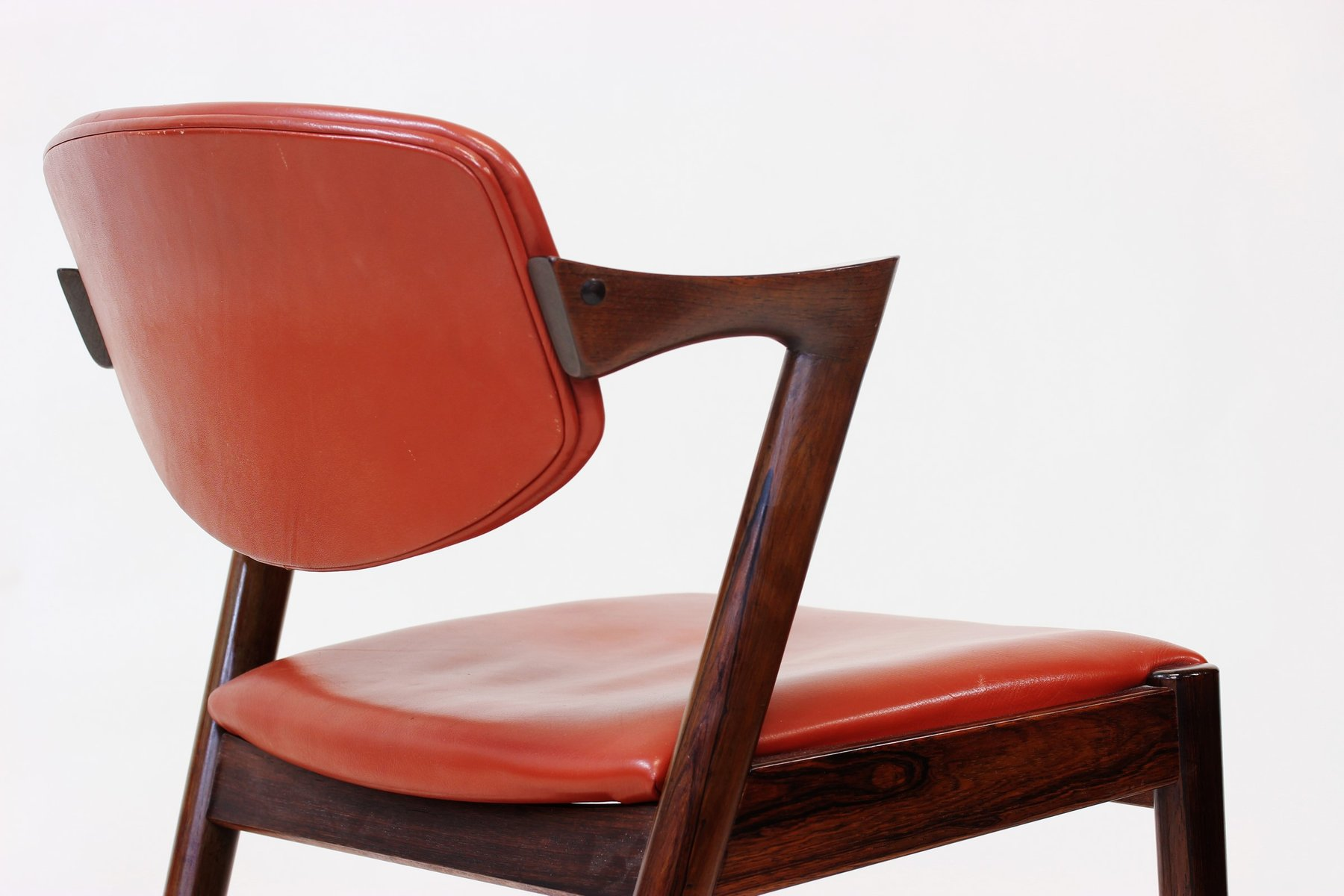 Rosewood model 42 dining chairs by kai kristiansen for schou andersen 1965 set of 6 for sale - Kai kristiansen chairs ...