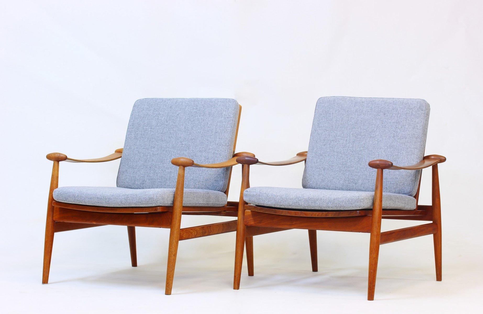 vintage spade chair sessel von finn juhl f r france son 1961 2er set bei pamono kaufen. Black Bedroom Furniture Sets. Home Design Ideas
