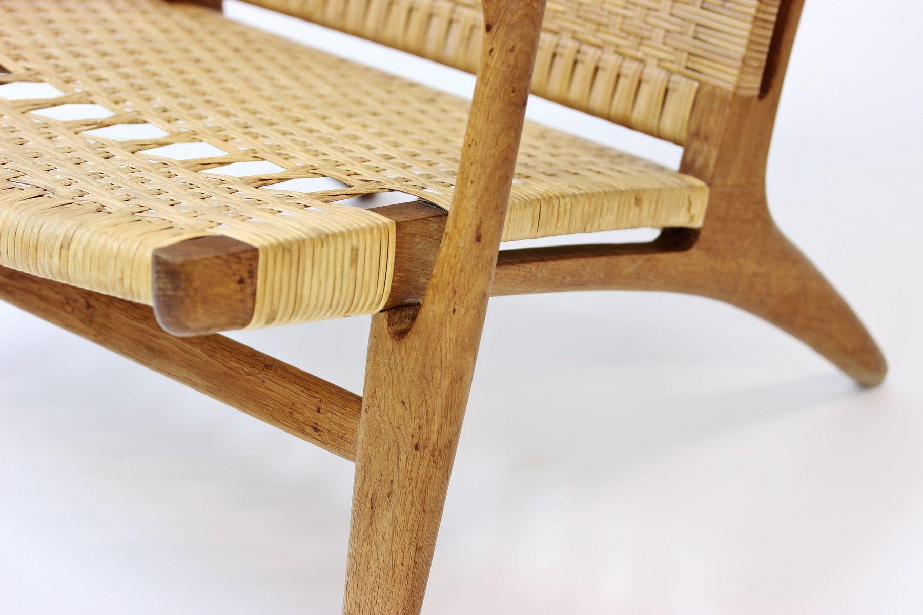 easy chair by hans j wegner for carl hansen s n 1950s. Black Bedroom Furniture Sets. Home Design Ideas