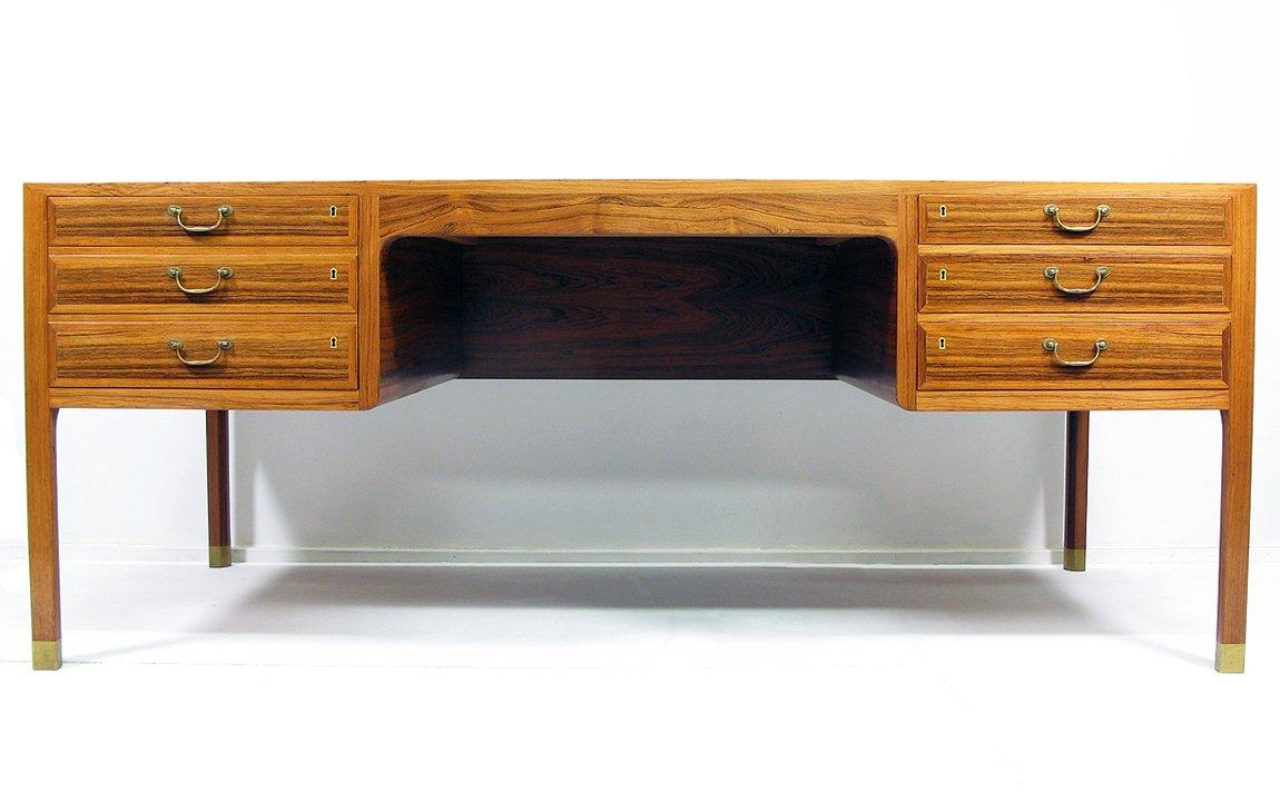 palisander schreibtisch von ole wanscher f r a j iversen. Black Bedroom Furniture Sets. Home Design Ideas