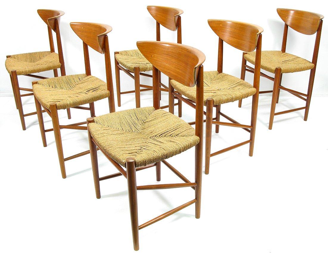 esszimmerst hle von peter hvidt und orla molgaard f r. Black Bedroom Furniture Sets. Home Design Ideas