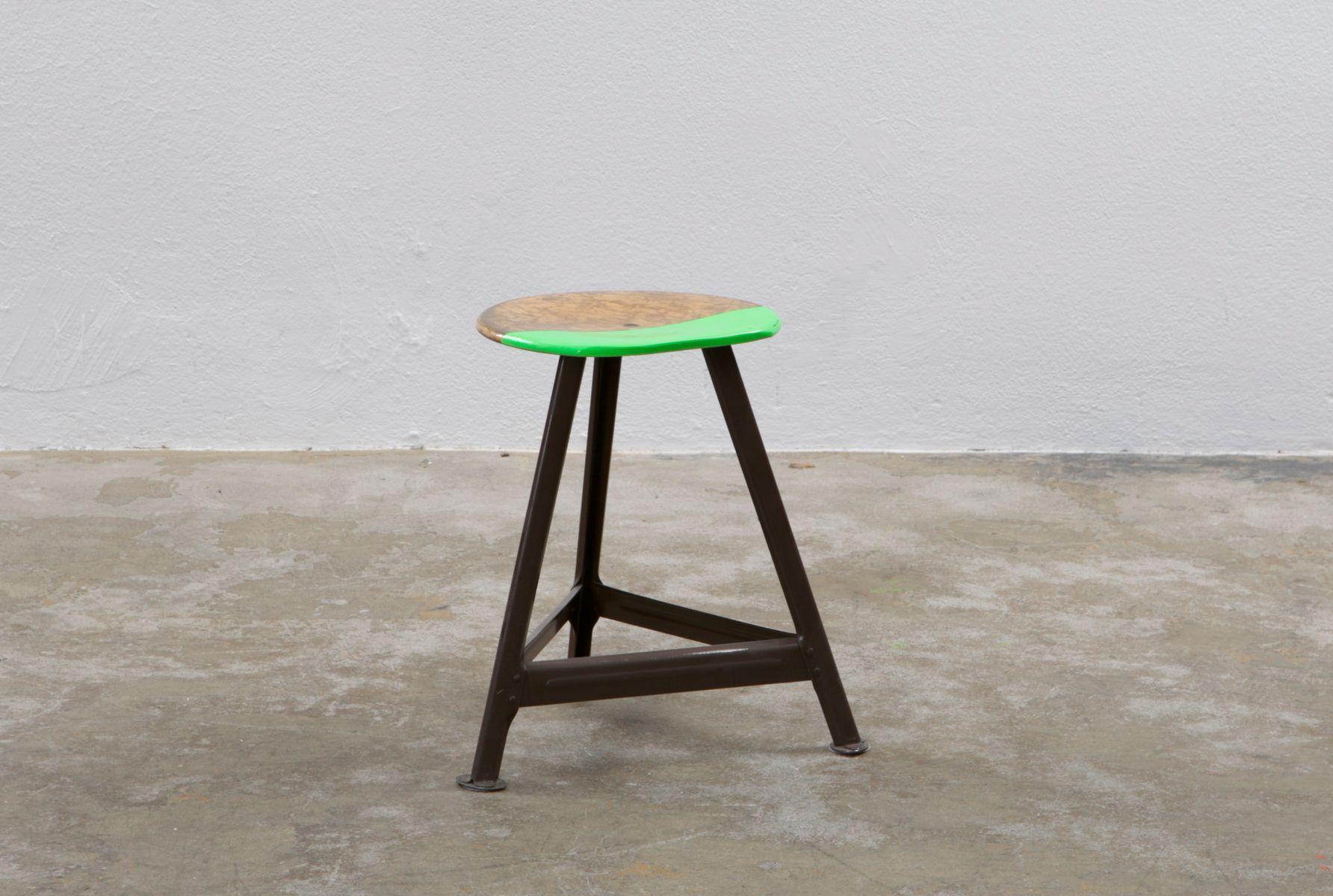 fliege mit hocker stool for sale at pamono. Black Bedroom Furniture Sets. Home Design Ideas