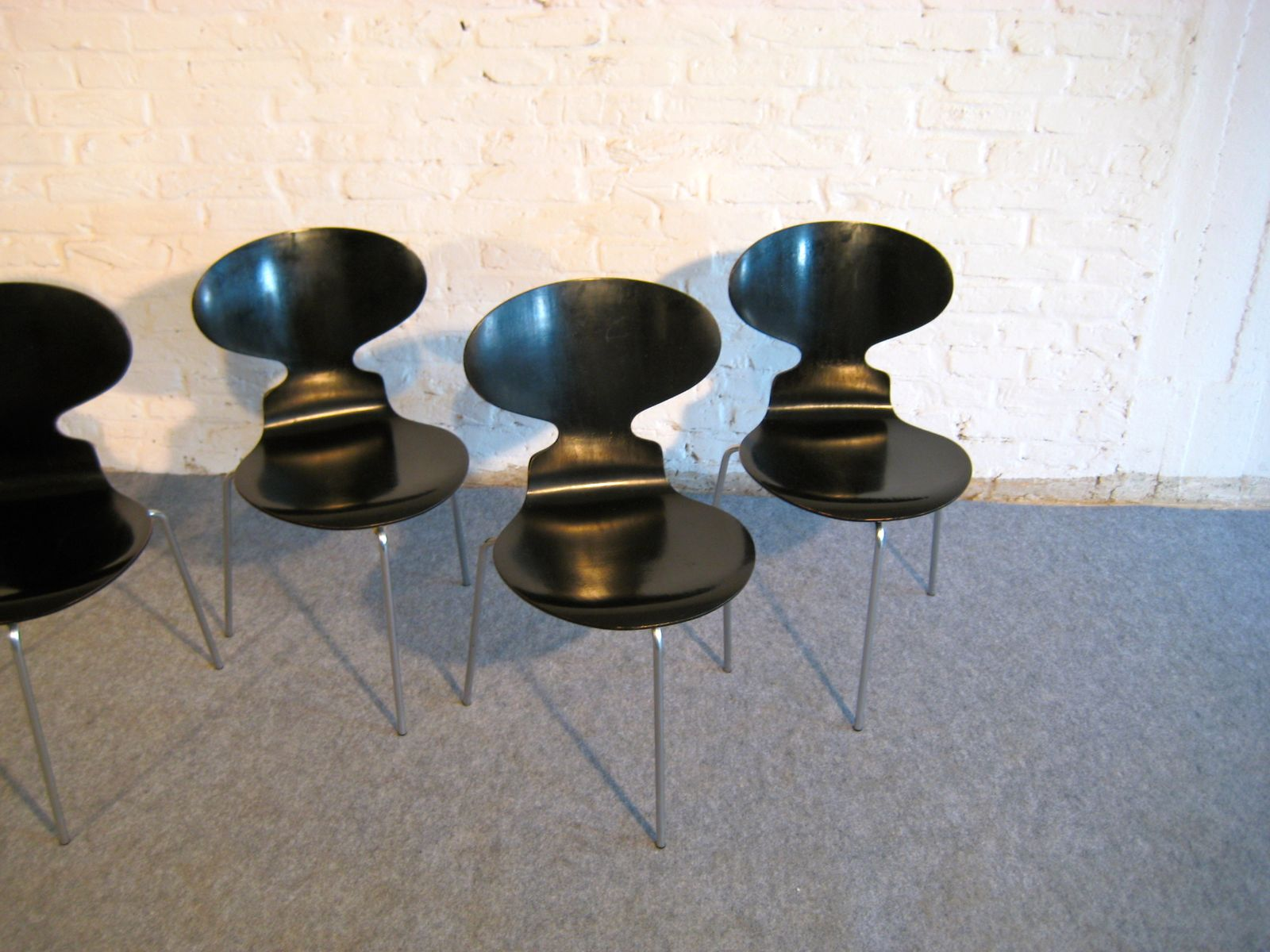 FH 3100 Ant Chairs by Arne Jacobsen for Fritz Hansen 1969 Set of