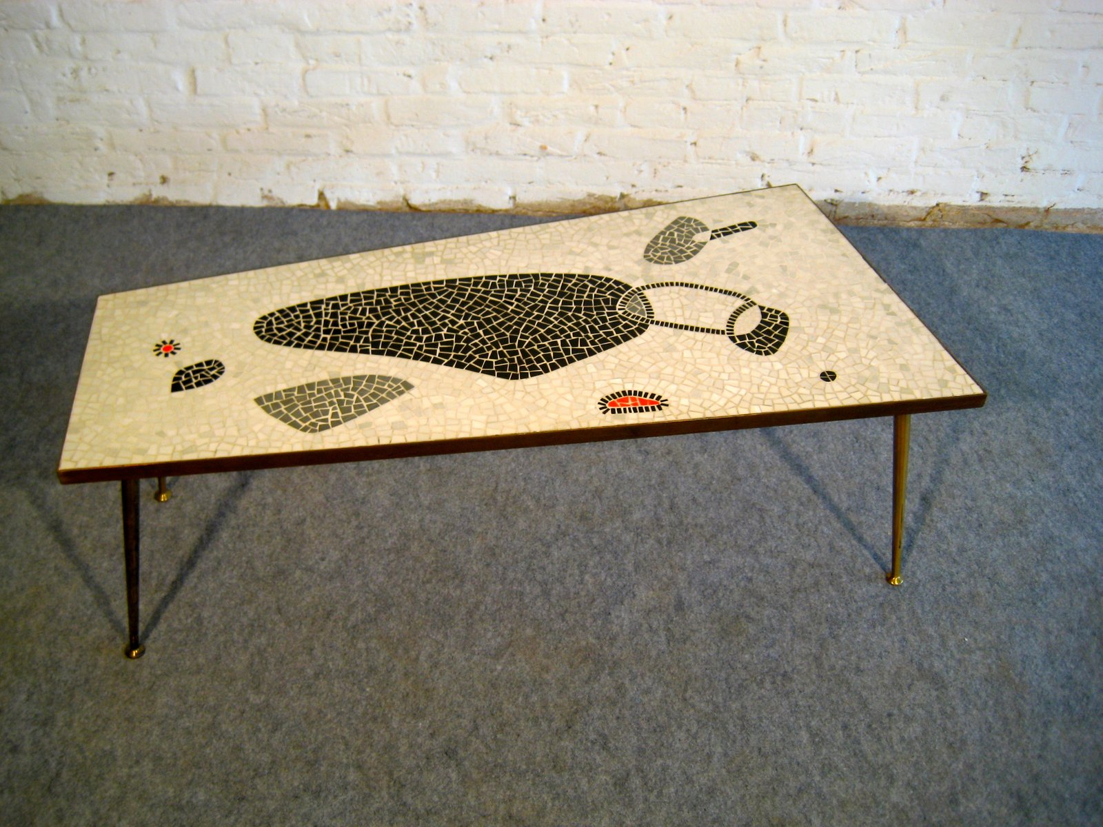 Exceptional Mid Century Mosaic Coffee Table, 1950s