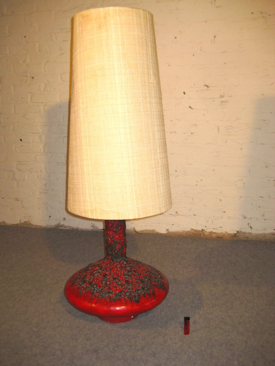 Fat Lava UFO Table Lamp by Otto Gerharz for Otto Keramik, 1960s ...