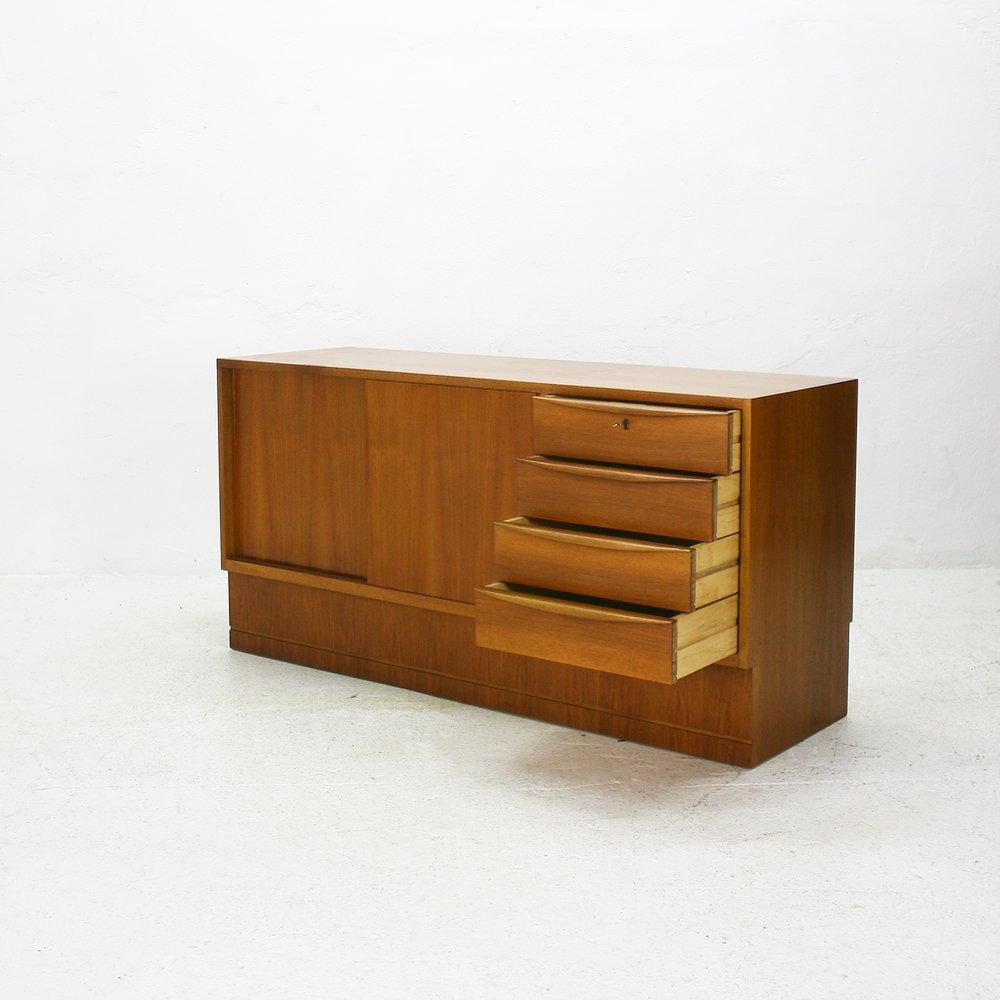 German walnut veneered sideboard by hans hartl 1960s for for Sideboard 60 cm hoch