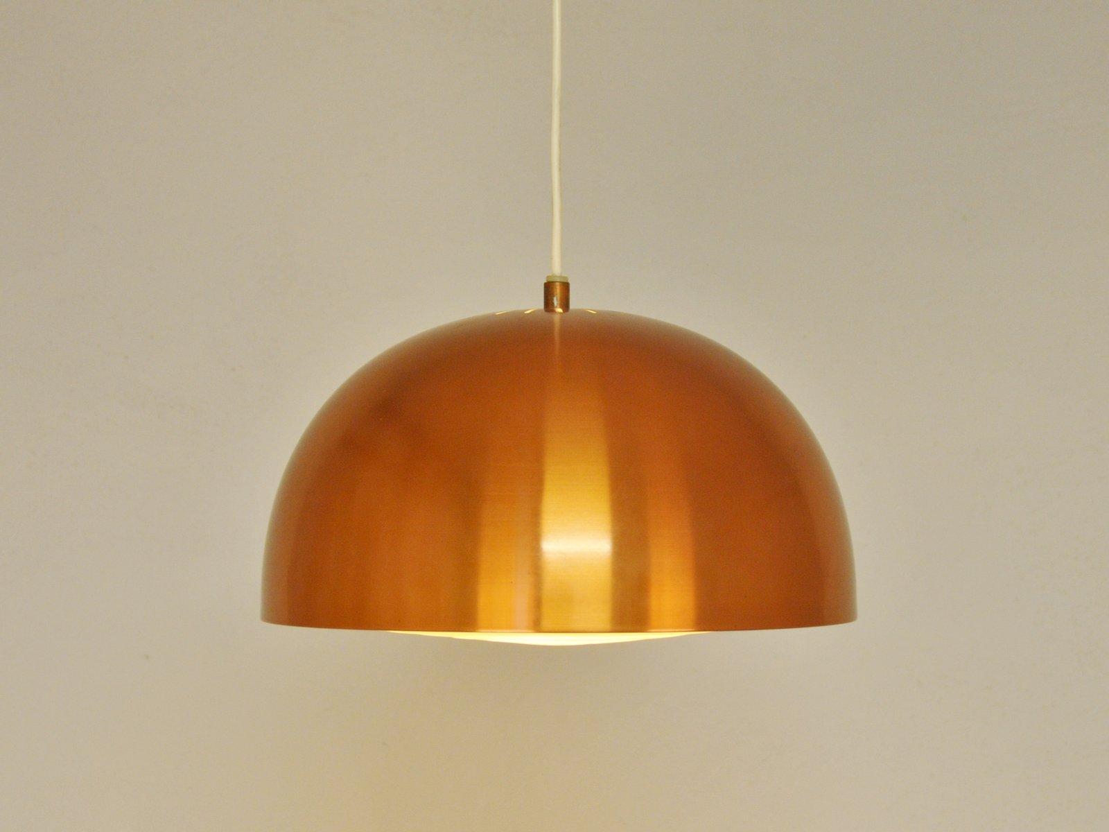 lampe suspension vintage scandinave en cuivre 1960s en vente sur pamono. Black Bedroom Furniture Sets. Home Design Ideas