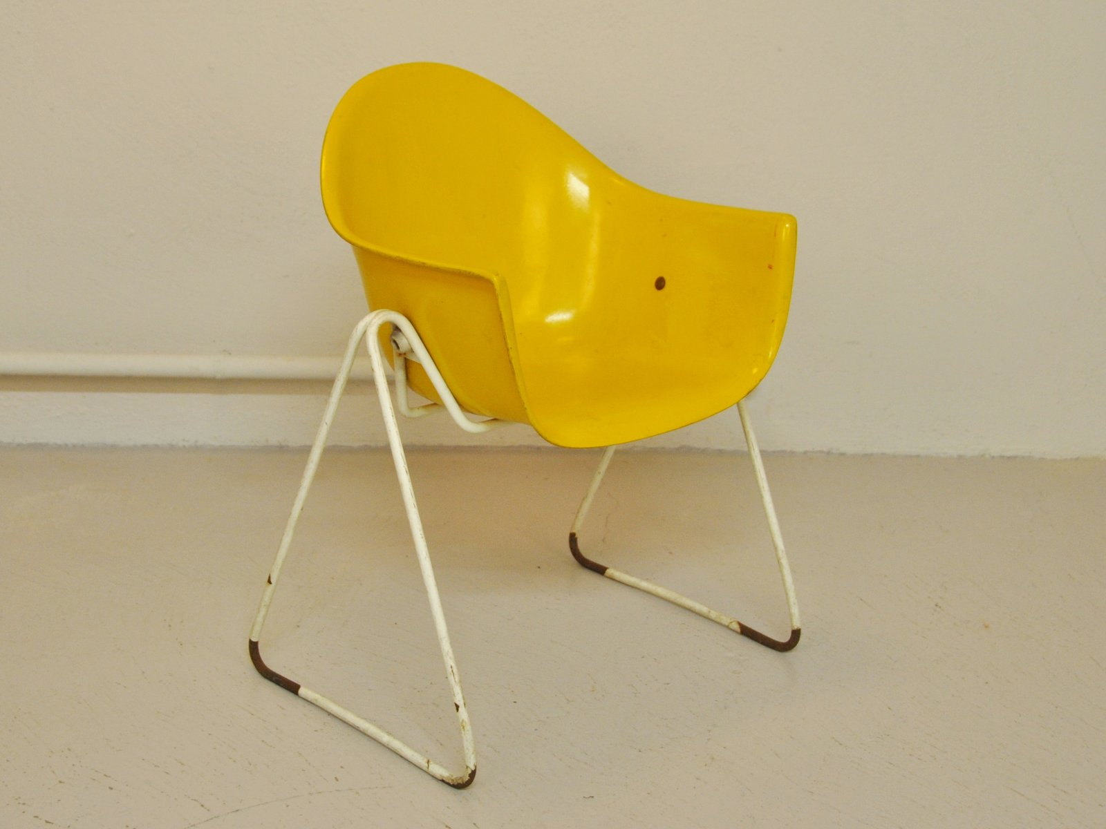 Yellow Children s Chair by Walter Papst for Wilkhahn 1960s for