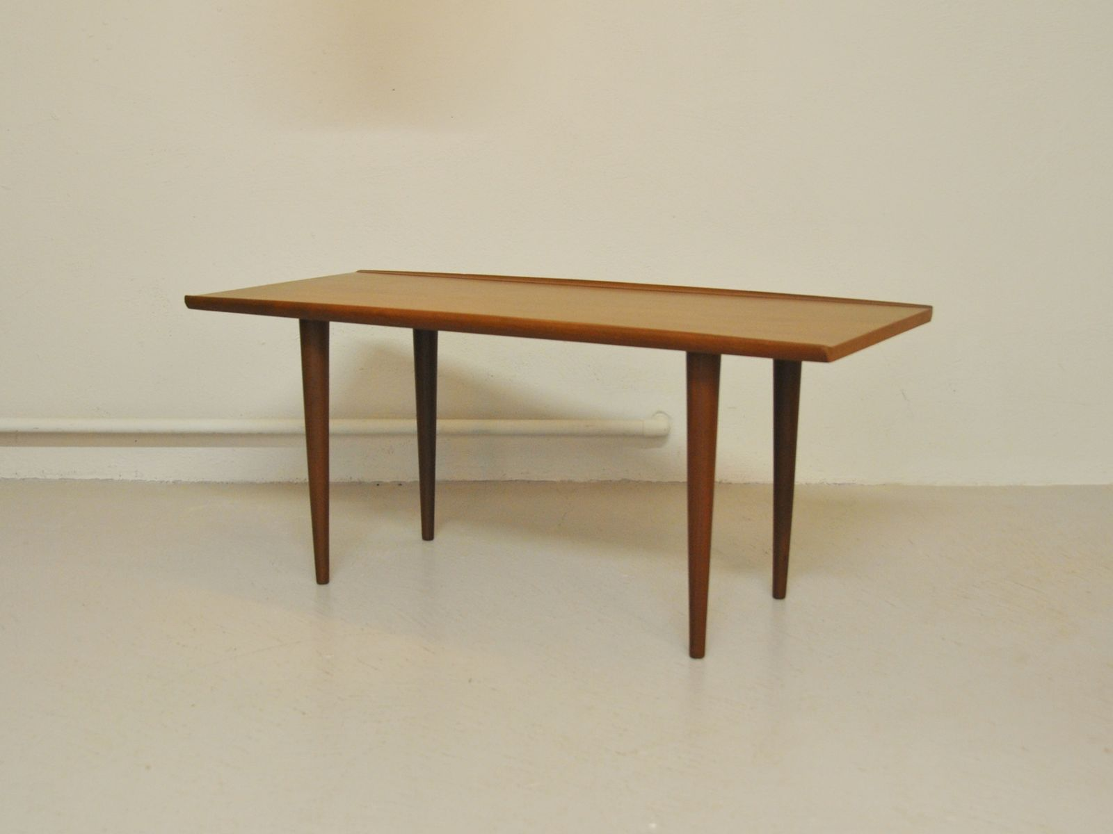 Scandinavian Curved Edge Teak Coffee Table for sale at Pamono